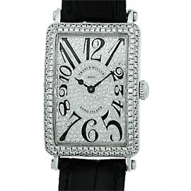 Franck Muller Long Island Iceland 1150 SC DT 18K White Gold and Diamond Watch