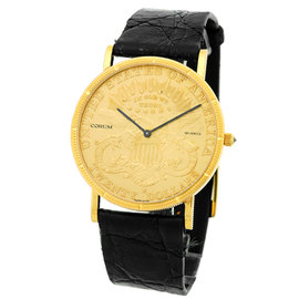 Corum 1895 Twenty Dollar U.S. Coin 18K Yellow Gold Mens Watch