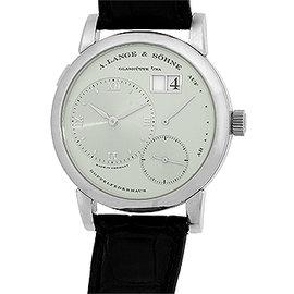 "A. Lange & Sohne ""Lange 1"" Platinum Strap Watch"
