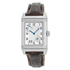 """Jaeger LeCoultre """"Grande Reverso Big Date"""" Stainless Steel Mens Watch"""