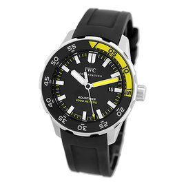 "IWC ""Aquatimer"" Stainless Steel Divers Strap Watch"