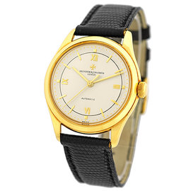 Vacheron Constantin Classique Automatic 18K Yellow Gold Strap Vintage Mens Watch