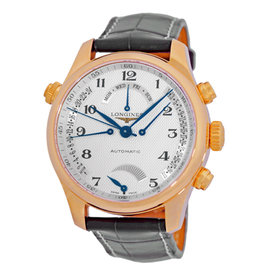 Longines Master Collection L2.714.8.783 18K Rose Gold Retrograde Automatic 41mm Watch
