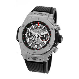 "Hublot ""Big Bang UNICO Chronograph "" Titanium Strapwatch 45mm Mens Watch"