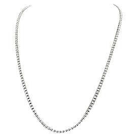 18K White Gold & 7ct Diamond Tennis Riviera Necklace