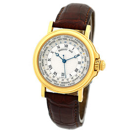 "Breguet ""Marine Hora Mundi 24 World Time Zones"" 18K Yellow Gold Womens Strap Watch"