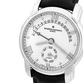 "Vacheron Constantin ""Patrimony Retrograde Calendar"" 18K White Gold Strapwatch"