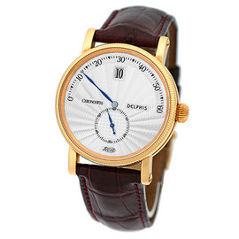 """Chronoswiss """"Delphis"""" 18K Rose Gold Jump Hour Strap Watch"""