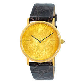 Corum 1877 Twenty Dollar U.S. Coin 18K Yellow Gold Mens Watch