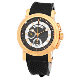 Breguet Marine Chronograph 18K Rose Gold Strap Mens Watch