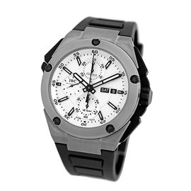 "IWC ""Ingenieur Double Chronograph"" Titanium Automatic Mens Strap Watch"