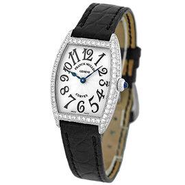 Franck Muller Diamond Cintree Curvex 18K White Gold Womens Watch