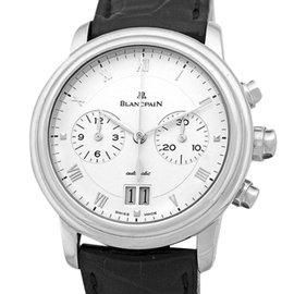 Blancpain Villeret Chronograph 18K White Gold Mens Strap Watch
