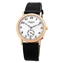 Patek Philippe 5022 Officer's Calatrava 18K Rose Gold Mens Watch
