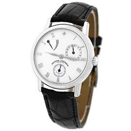 Vacheron Constantin Patrimony Power Reserve 18K White Gold Strap Mens Watch
