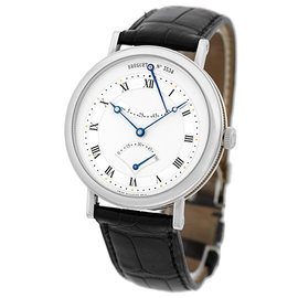 "Breguet ""Classique Retrograde Seconds"" 18K White Gold Mens Strap Watch"