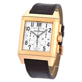 "Jaeger LeCoultre ""Reverso Squadra GMT"" Chronograph 18K Rose Gold Strapwatch"