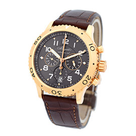 "Breguet ""Transatlantique Type XXI"" Flyback Chronograph 18K Rose Gold Mens Watch"