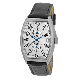 Franck Muller Master of Complications Master Banker Triple Time Zone Stainless Steel Mens Watch