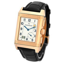 "Jaeger-LeCoultre ""Reverso Grande GMT"" Dual Time 18K Rose Gold Mens Watch"