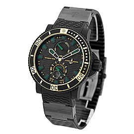 Ulysse Nardin Maxi Marine Diver Black Sea 263-92LE-3c/928-rg Black Stainless Steel Rubber & 18K Rose Gold Mens Watch