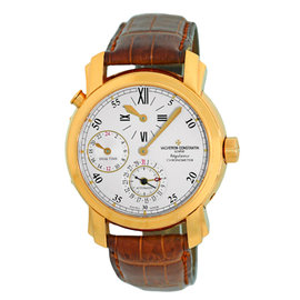 Vacheron Constantin Dual Time Regulateur Chronometer 18K Yellow Gold Mens Watch