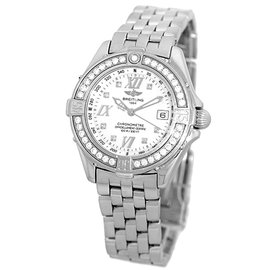 "Breitling ""Diamond Windrider Cockpit Lady"" Stainless Steel 32mm Womens Watch"