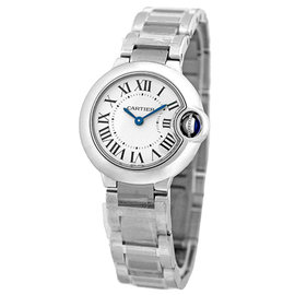 "Cartier ""Ballon Bleu"" W69010Z4 Stainless Steel Quartz 28mm Womens Watch"
