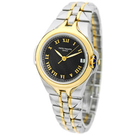 "Patek Philippe ""Sculpture"" 5091 Stainless Steel & 18K Yellow Gold Automatic 37mm Mens Watch"