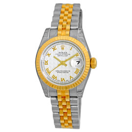 "Rolex ""Datejust"" Stainless Steel & 18K Yellow Gold Automatic 26mm Womens Watch"