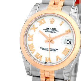 "Rolex ""Datejust"" Stainless Steel & 18K Rose Gold 31mm Womens Watch"