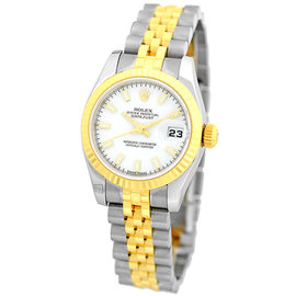 "Rolex ""Datejust"" 179173 Stainless Steel & 18K Yellow Gold Automatic 26mm Womens Watch"