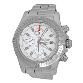 "Breitling ""Super Avenger II"" A13370 Stainless Steel Automatic 48.4mm Mens Watch"