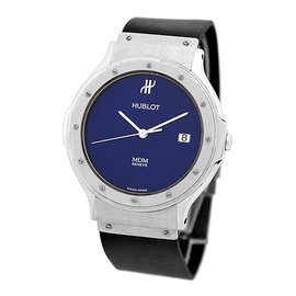 "Hublot ""Classique MDM"" Stainless Steel & Rubber Quartz 36mm Mens Watch"