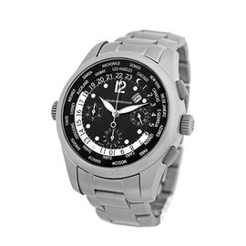 "Girard Perregaux ""World Timer"" 49800.T.21.6546 Titanium Black Dial Automatic 42mm Mens Watch"