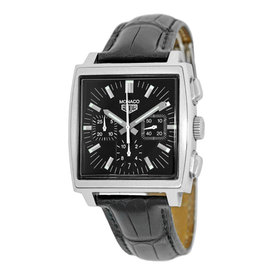 Tag Heuer Monaco CW2111-0 Stainless Steel & Leather Automatic 38mm Mens Watch