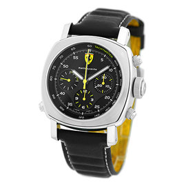 """Panerai """"Ferrari"""" Rattrapante FER00010 Stainless Steel & Leather Automatic 45mm Mens Watch"""