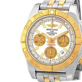 Breitling Chronomat Evolution CB0140 Stainless Steel & 18K Rose Gold 41mm Mens Watch