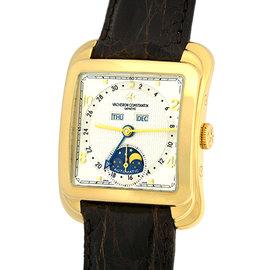 "Vacheron Constantin ""Toledo 1952"" 47300 18K Yellow Gold & Leather Automatic 34mm Mens Watch"