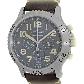 "Breguet ""Type XXI"" 3817ST/X2/3ZU Stainless Steel & Leather Automatic 42mm Mens Watch"