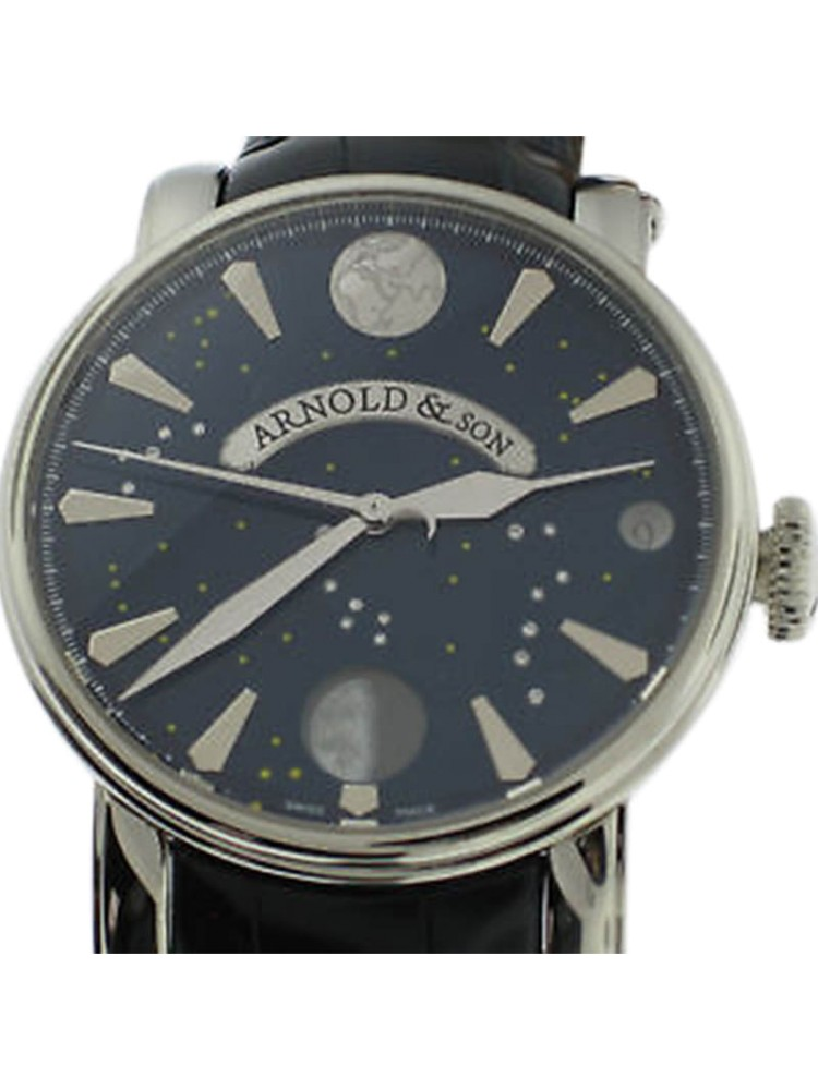 Arnold & Son True Moon 46mm Blue Dial & Diamond Watch