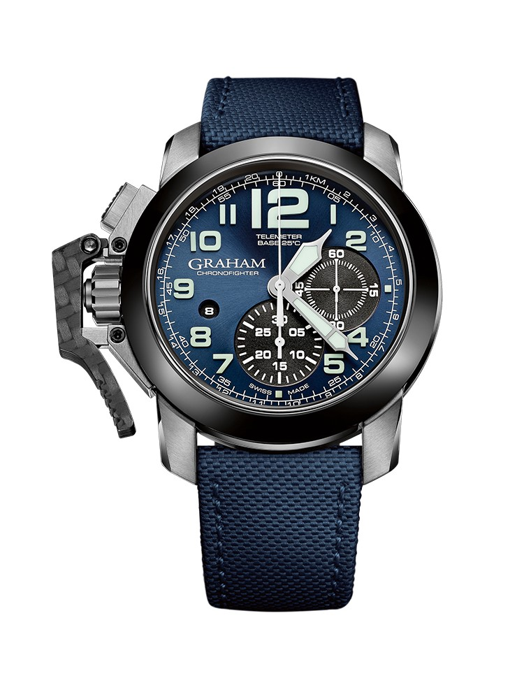 Graham Chronofighter Steel And Target 2CCAC.U01A.22S 47mm Mens Watch