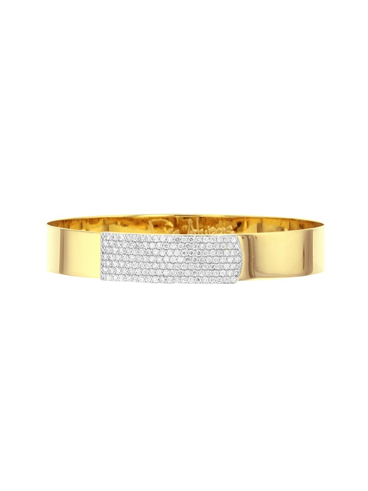 Yellow Gold and Diamond Medium Strap Bracelet