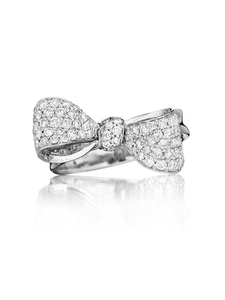 18K Gold Petite Extra Small Diamond Ring