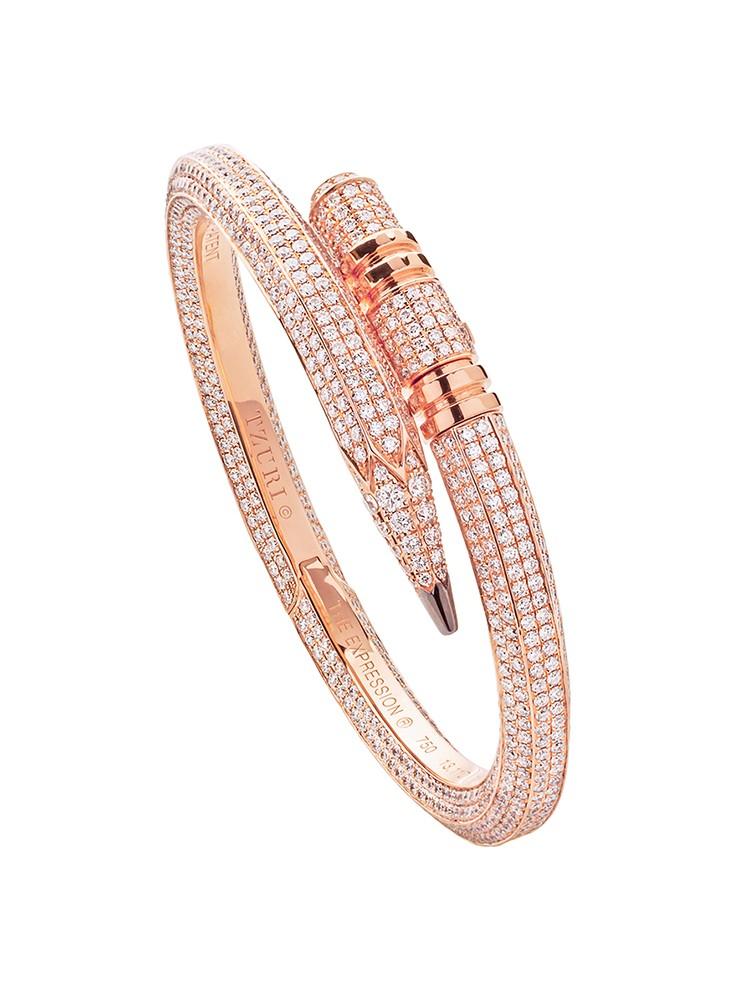 TZURI Rose Gold Signature Bling Bracelet