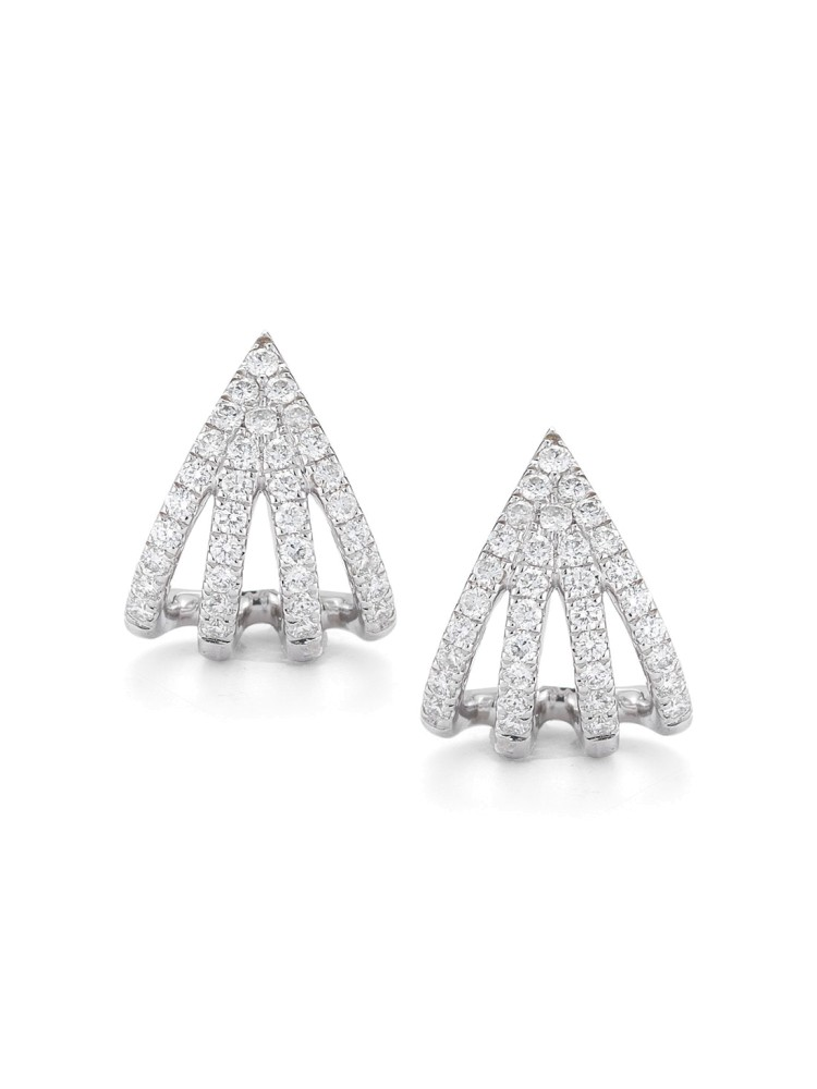 Sarah Leah 14k White Gold Earrings