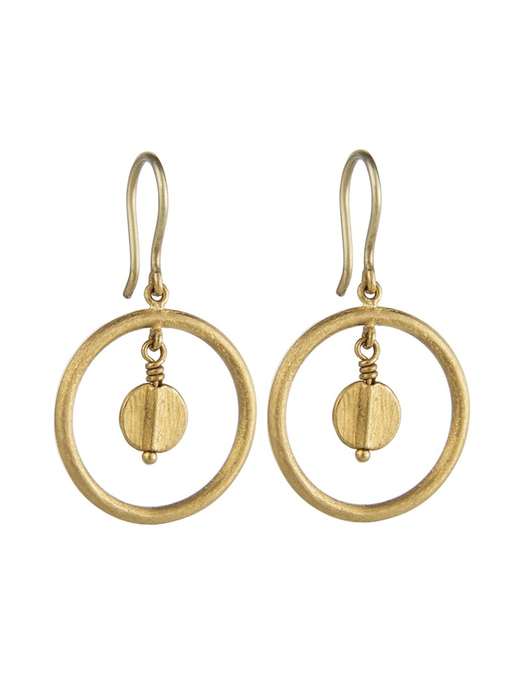 Yossi Harari Jewelry 24k Gold Jane Loop Earrings