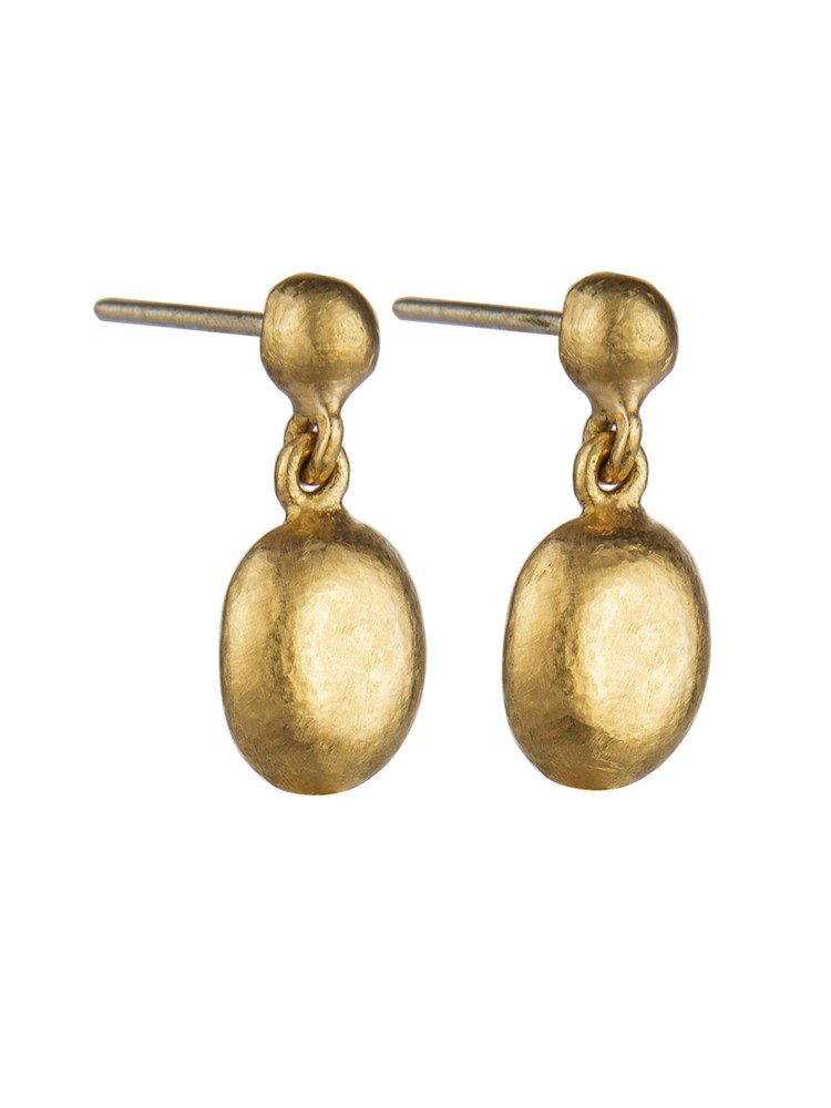 Yossi Harari Jewelry 24k Gold Mini Roxanne Drop Earrings