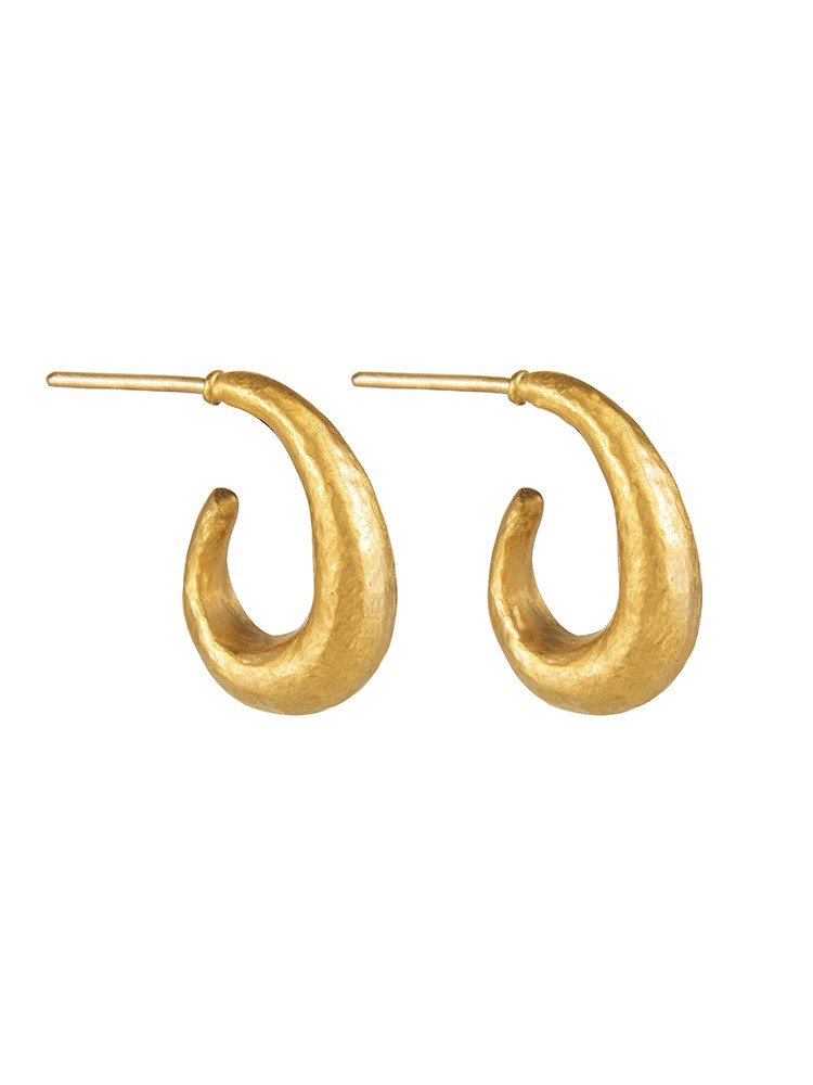 Yossi Harari Jewelry 24k Gold Small Roxanne Hoop Earrings