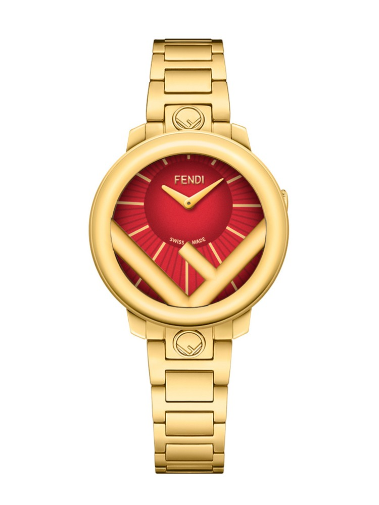Fendi Timepieces Red 28 mm